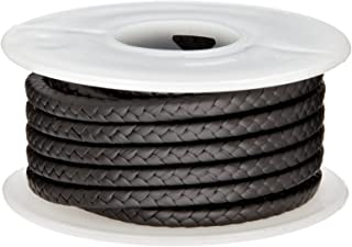 Palmetto 1382 Series Expanded PTFE with Graphite Compression Packing Seal, Dull Black, 1/8