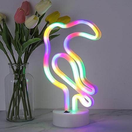 Bohaluo Veilleuse Cactus LED avec base, lumières LED néon à piles ou USB, décoration de Noël, fête d'anniversaire, salon, chambre à coucher, table pour enfants