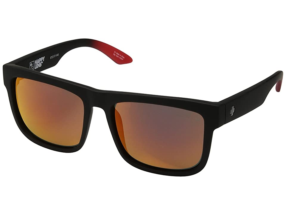 Spy Optic Discord (Discord Soft Matte Black/Red Fade/Happy Gray/Green/Red Flash) Sport Sunglasses