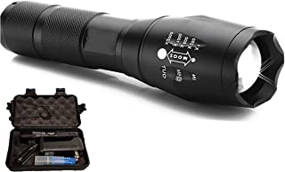 Nadlor Tech Tactical Flashlight 1000 Lumens Kit w/ 1 Rechargeable Battery, Charger, and Protective Case Included, 5 Modes, Best for Camping, Hunting, Emergency, Dog Walking at Night.