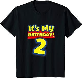 Kids 2 Year Old Birthday Shirt Boys and Girls It's My Birthday