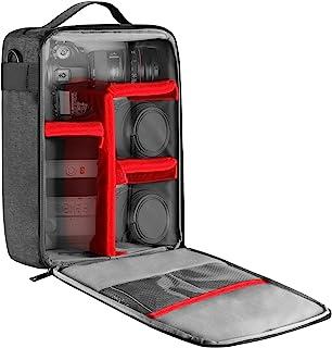 Neewer NW140S Estuche impermeable cámara y lente almacenamiento, 8,7x5,9x12,6 pulgadas/ 22x15x32 cm bolso acolchado suave para Canon Nikon Sony DSLR, 4 lentes o Flash, disparador, batería accesorios