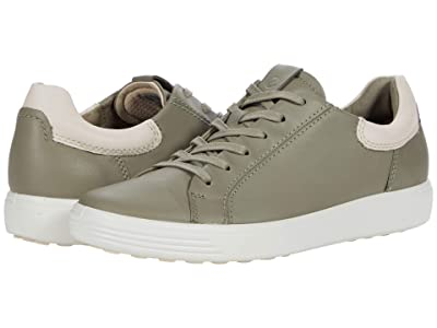 ECCO Soft 7 Street Sneaker (Vetiver/Limestone Cow Leather) Women