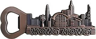 Wedare香港中国冷蔵庫マグネット栓抜き観光のお土産コレクション、香港磁気ステッカー冷蔵庫マグネットビールオープナー
