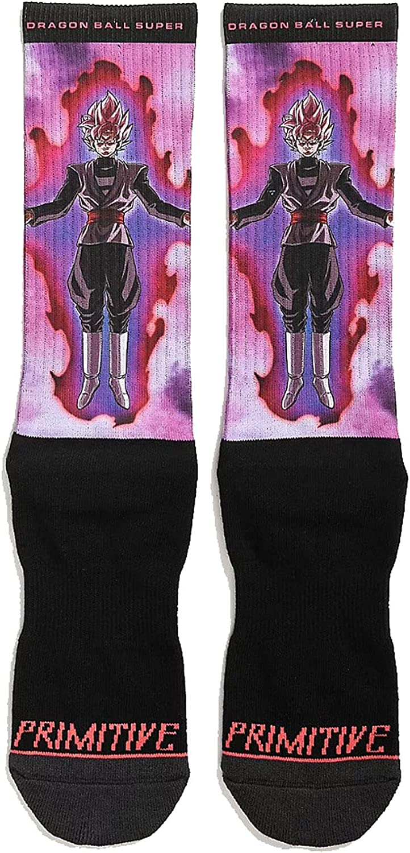 Primitive x Dragon Ball Super Goku Black Rose Socks Black