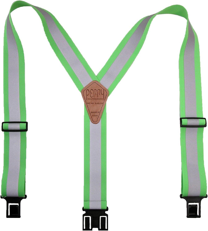 Perry Suspenders Elastic Hook End Reflective Suspenders