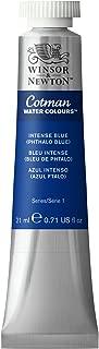 Winsor & Newton Cotman Water Colour Paint, 21ml tube, Intense Blue (Phthalo Blue)
