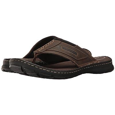 Rockport Darwyn Thong (Brown II Leather) Men