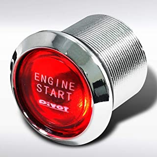 Autozensation Red Led Engine Ignition Starter Push Start Button Switch 12V