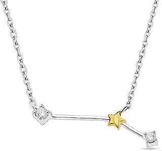 Celestial Star Horoscope Astrology Diamond Ring or Pendant in Sterling Silver