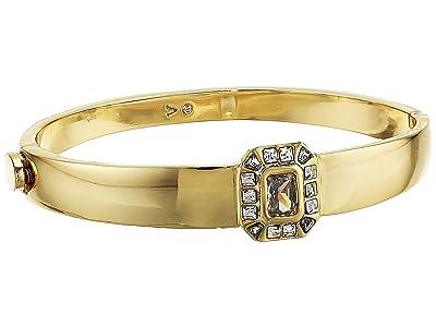 Vince Camuto Asher Cut Button Hinge Bracelet (Gold/Crystal) Bracelet