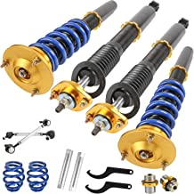 MOSTPLUS Coilovers Struts for BMW E46 318i/323Ci/328Ci/328i/323i/ 328is/ 323is/318ti/ 330Ci Suspensions Shock Struts Kits (Set of 4)