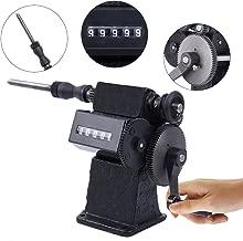 Yonntech Dual Purpose Manual Coil Winder Machine with Counter Hand Coil Winding Machine Range 0-9999 Round Black