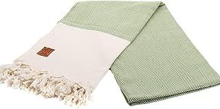 Gold Case Calypso 100% Cotton pestemal Bath Beach Multi-Purpose Turkish Towel Throw 39x70 Green