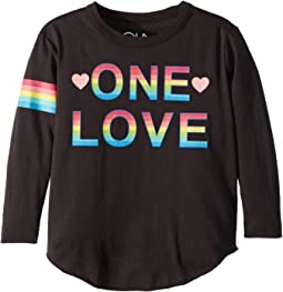 Soft Vintage Jersey One Love Tee (Toddler/Little Kids)