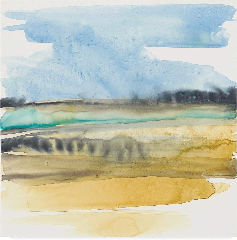 Trademark Fine Art Mountains to Sea IV by Jennifer goldberger, 14x14
