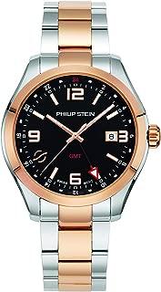 Philip Stein Dress Watch (Model: 92TRG-GMTBK-SSTRG)