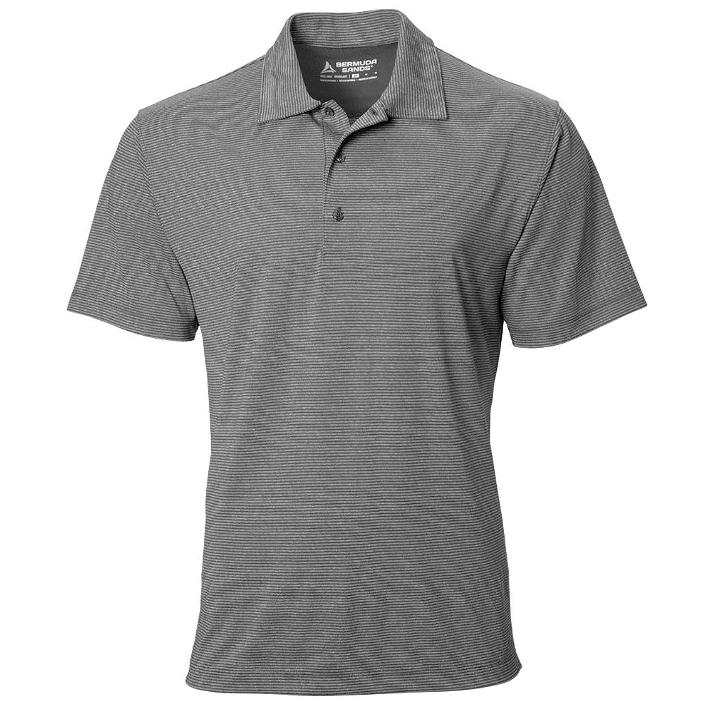 Bermuda Sands Elite Golf Polo Black Heather Medium