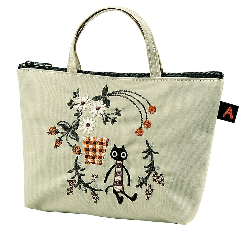 レールネクタイオープナー[マタノアツコ] アツコマタノ 刺繍トートバッグ(MEMEブーケ) アイボリー