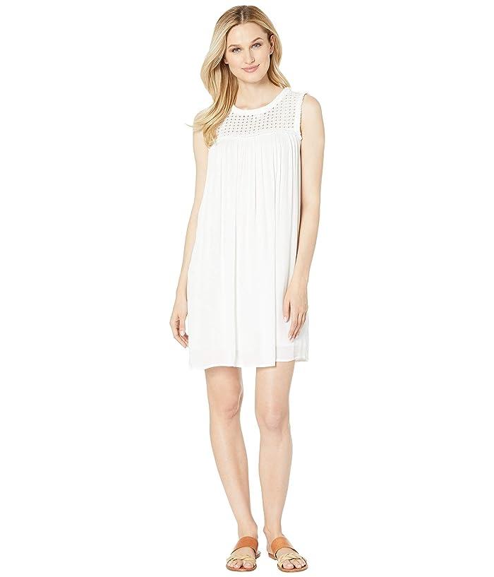 Tommy Bahama Crinkle Rayon Sleeveless Dress (White) Women