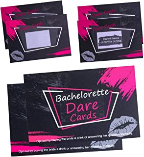 Zagtag Bachelorette Dare Cards Party Games, Girls Night Out, Hen Party Supplies, 36 Scratch Off Cards