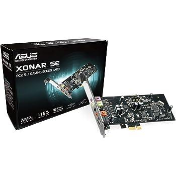 ASUS XONAR SE 5.1 Channel 192kHz/24-bit Hi-Res 116dB SNR PCIe Gaming Sound Card with Windows 10 Compatibility