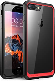 SUPCASE Unicorn Beetle Series for iPhone 7 Plus, Premium Hybrid Protective Frost Clear Case for Apple iPhone 8 Plus 2017 (Red)