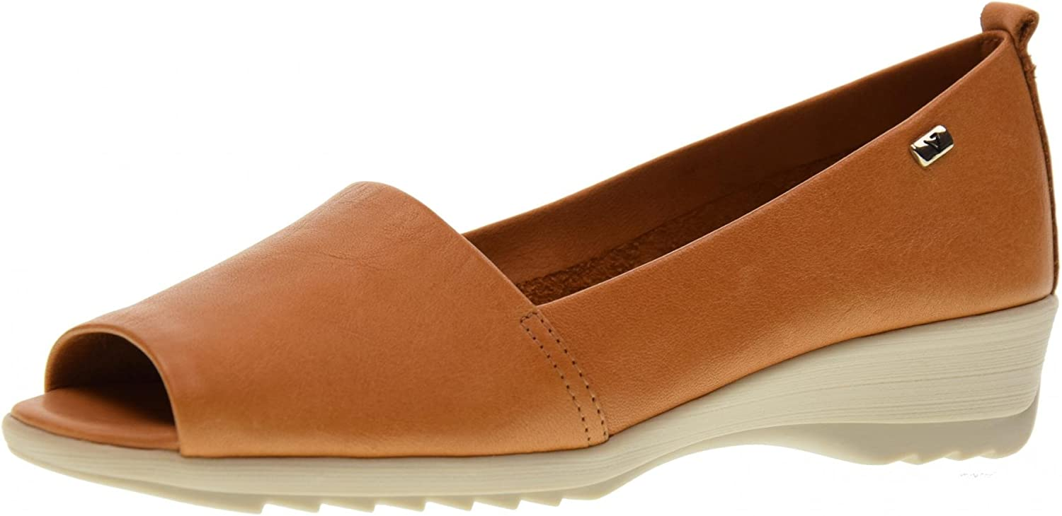 Vallegreen shoes Woman Moccasin Popped 41141 Cognac