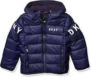DKNY boys Puffer Jacket Down Alternative Coat