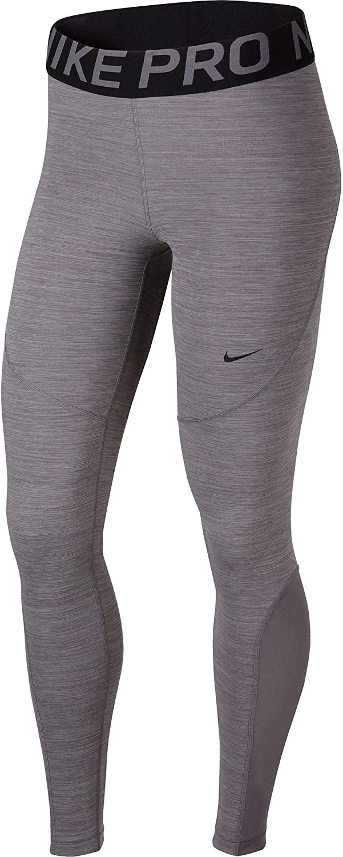 Nike Pro Women's Tights (Gunsmoke Heather Black, XL)