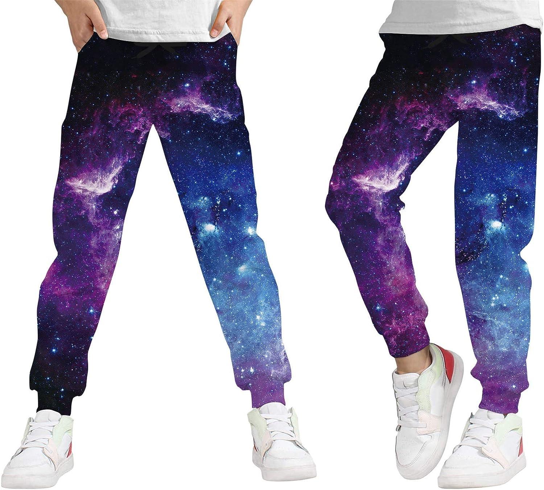 transpirables Lovekider Pantalones de ch/ándal para ni/ño con impresi/ón 3D gr/áfica con cord/ón y bolsillos para el tiempo libre de 6 a 13 a/ños de poli/éster