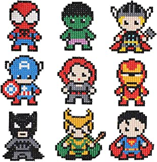 9 Pieces Boys and Girls 5D Diamond Painting Kits for Kids,5D Superhero Diamond Art Mosaic Stickers by Numbers Kits Crafts Set for Children Superhero1