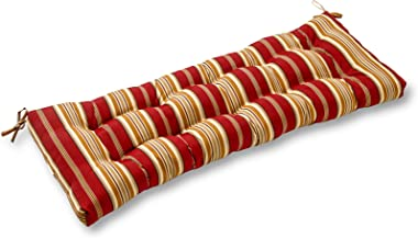 Greendale Home Fashions AZ4805-ROMASTRIPE Tuscan Stripe 44-inch Outdoor Swing/Bench Cushion