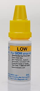 FORA GDH Glucose Low Control Solution, Compatible with FORA TN'G, FORA 6 Connect