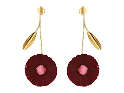 Kate Spade New York Posh Poppy Statement Earrings (Burgundy) Earring