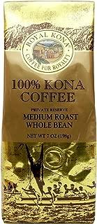 Royal Kona Coffee for Royalty, 100% KONA COFFEE, Whole Bean, Medium Roast, 7 Ounce, PRIVATE RESERVE