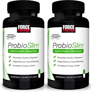 ProbioSlim Probiotic Supplement for Women and Men with Probiotics and Green Tea Extract, Reduce Gas, Bloating, Constipatio...