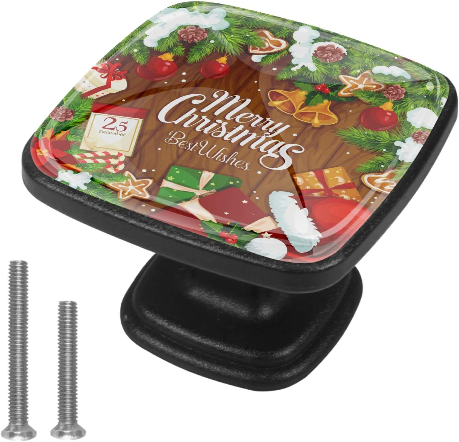 Round Cabinet Bombing new work Hardware Sale special price Knob 4 Pack - Gift and Santa Ball a hat