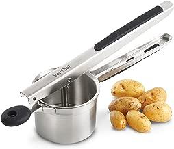 VonShef Potato Ricer Masher Stainless Steel, Soft Touch Handles, Black – Fruit Press, Fishcakes, Rosti