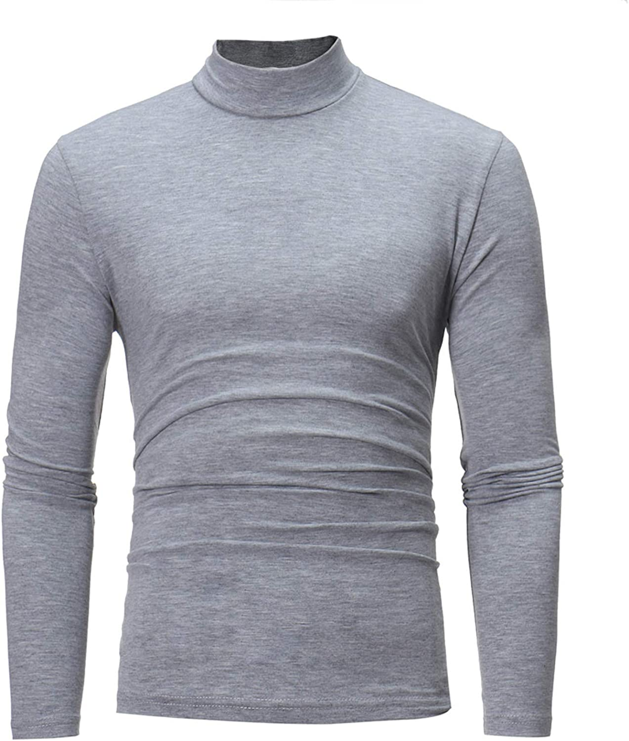 Men's Thermal Shirt Top with Neck Base Layer Sweaters Pullover Sweatshirt for Men