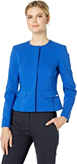 Calvin Klein Women's Peplum Cotton Jacket