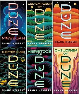 Complete Dune Series Set ( 6 Books ) Dune; Dune Messiah; Children of Dune; God Emperor of Dune; Heretics of Dune; Chapterh...