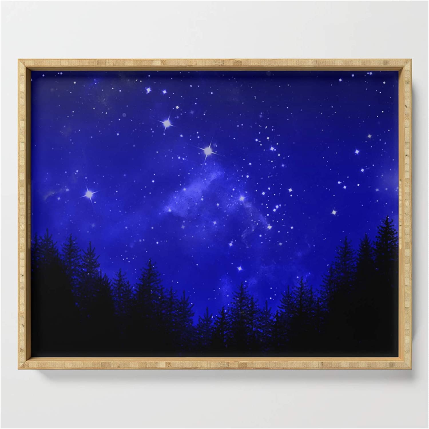 Blue Galaxy Forest Ranking TOP9 Night Sky by on Designs Erin Julie Cheap super special price Tr Serving