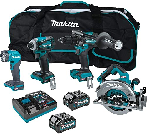 new arrival Makita GT400M1D1 online 40V lowest Max XGT Brushless Lithium-Ion 7-1/4 in. Cordless Circular Saw 4-Tool Combo Kit (2.5 Ah/4 Ah) outlet sale