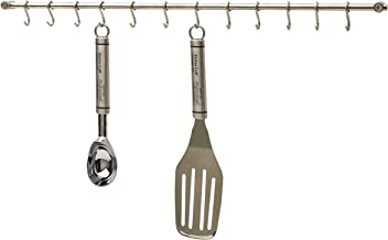 barra de gancho 50 cm Estante de cocina de acero inoxidable cromado con gancho para perforar cuchillos de cocina de acero inoxidable sin perforaci/ón