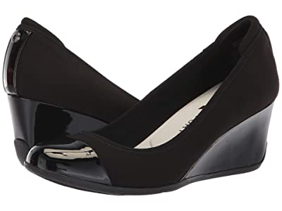 Anne Klein Sport Taite Wedge Heel (Black) Women