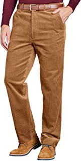 Chums Mens Corduroy Cotton Trouser Pants with Hidden Extra Waistband