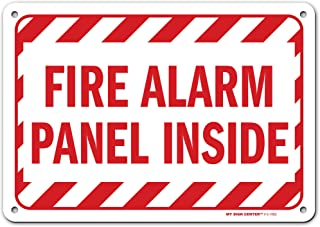 """Fire Alarm Panel Inside Sign, Made Out of .040 Rust-Free Aluminum, Indoor/Outdoor Use, UV Protected and Fade-Resistant, 7""""..."""
