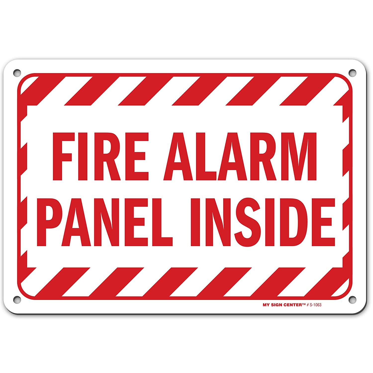 Fire Alarm Panel Inside Sign, Made Out of .040 Rust-Free Aluminum, Indoor/Outdoor Use, UV Protected and Fade-Resistant, 7