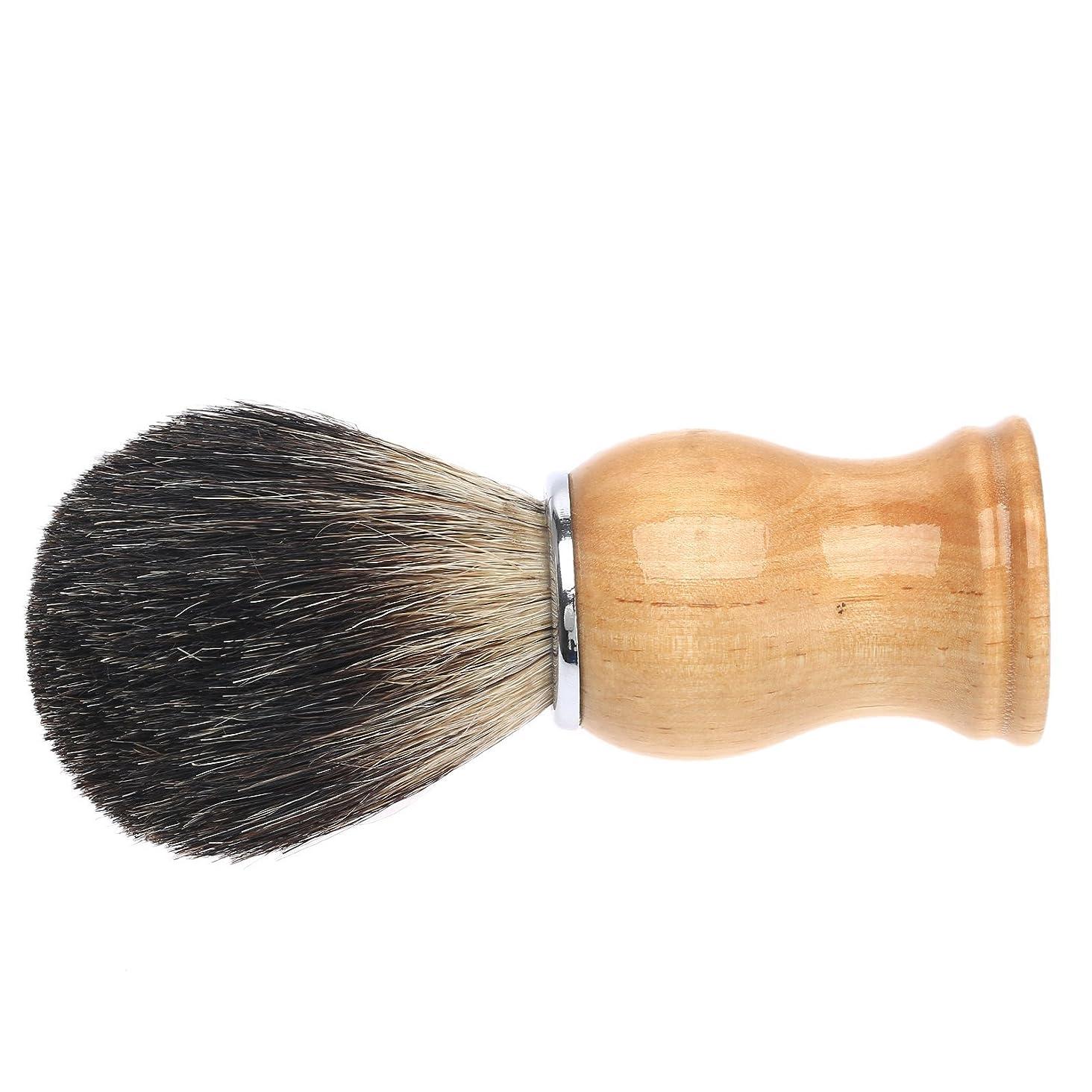 講堂広く皮肉なひげブラシ メンズ用 髭剃り ブラシ アナグマ毛シェービングブラシ ギフト